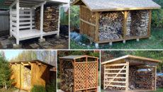 Как построить сарай для дров – варианты дровяника