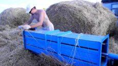 Пресс для мотоблоков – делаем брикеты и рулоны из сена