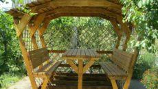 Садовые беседки своими руками – как сделать быстро и оригинально
