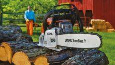 Профессиональные, фермерские, бытовые – бензопилы во всей красе!