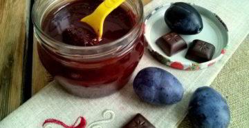 Сливовое варенье с шоколадом – готовим оригинальное лакомство