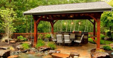 Беседки из камня – строим комфортную зону отдыха на дачном участке