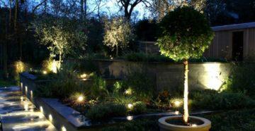 Управление уличным освещением загородного садового участка