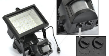 Прожектор с датчиком движения – все нюансы правильной установки