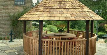 Круглая беседка для небольшого сада – строим своими руками